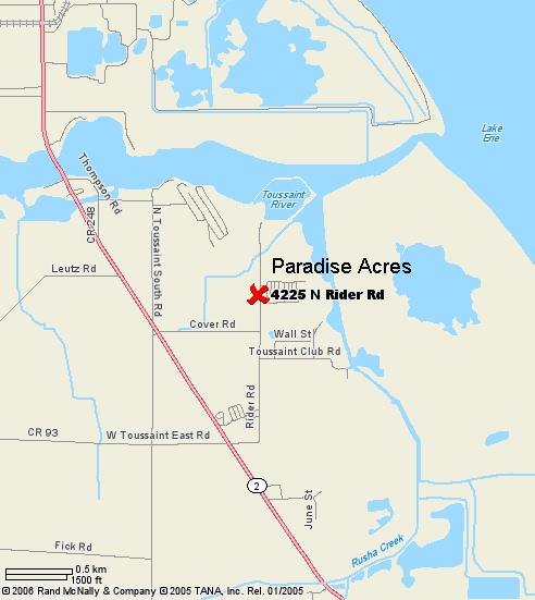 Paradise Acres map